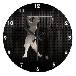 Vintage Golfer; Cool Large Clock