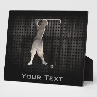 Vintage Golfer; Cool Photo Plaques