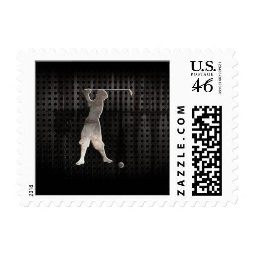 Vintage Golfer; Cool Stamps