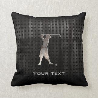 Vintage Golfer; Cool Throw Pillow