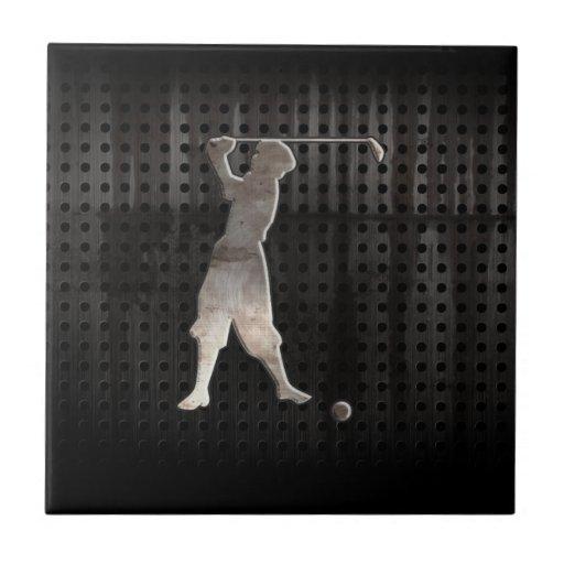Vintage Golfer; Cool Tiles