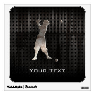 Vintage Golfer; Cool Wall Decals