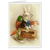 Vintage Golfer Easter Bunny!  Vintage Easter Card