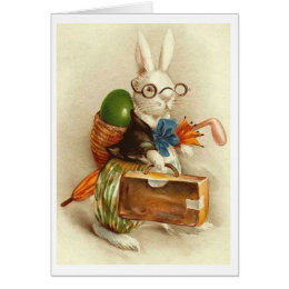 Easter bunny golf gifts on zazzle vintage golfer easter bunny vintage easter card negle Choice Image