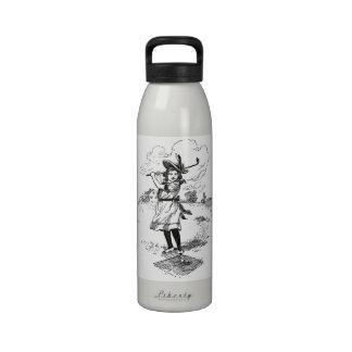 Vintage Golfer Girl Reusable Water Bottles