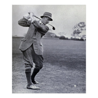 Vintage Golfer: Harry Vardon Poster