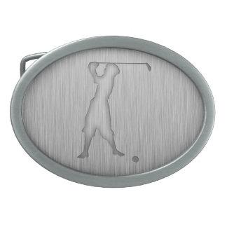 Vintage Golfer; Metal-look Belt Buckle
