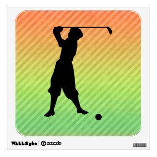 Vintage Golfer Room Sticker