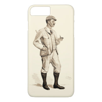 Vintage Golfer with Tobacco Pipe and Boots iPhone 8 Plus/7 Plus Case
