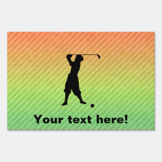 Vintage Golfer Yard Sign