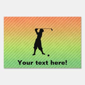 Vintage Golfer Signs