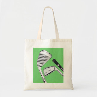 Vintage Golfing Golf Clubs Irons Tote Bag