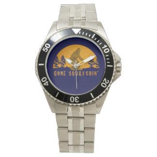 Vintage Gone Squatchin Stainless Steel Wrist Watch