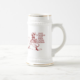 Vintage Good Cowgirls Beer Stein