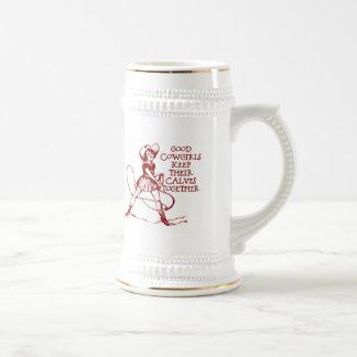 Vintage Good Cowgirls Beer Stein