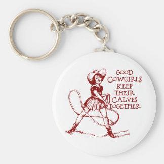 Vintage Good Cowgirls Keychain