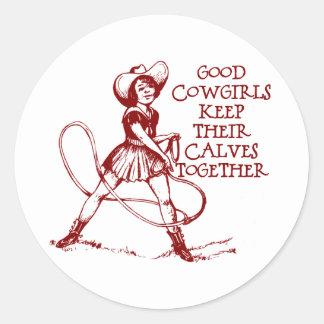Vintage Good Cowgirls Stickers