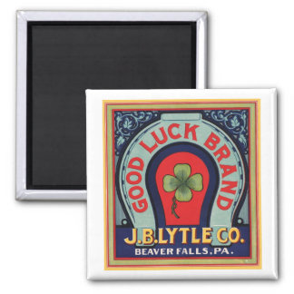 Vintage Good Luck Brand J. Bl Lytle Co. Crate Labe Magnet