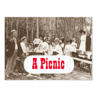 Vintage good old-fashioned Picnic Party Invitation