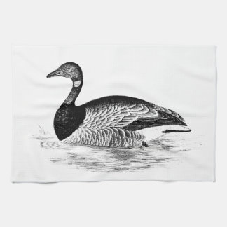 Vintage Goose Illustration -1800's Geese Template Hand Towels