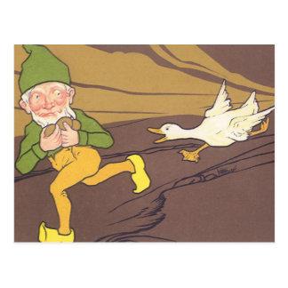 Vintage Goose that Laid the Golden Egg Aesop Fable Postcard