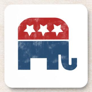 Vintage GOP logo Coasters