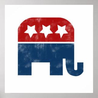 Vintage GOP logo Poster