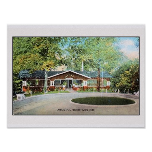 Vintage Gorge Inn Frenck Lick, Ind. (small) Poster