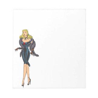 Vintage Gorgeous Glamor Girl Retro Blonde Pinup Notepad