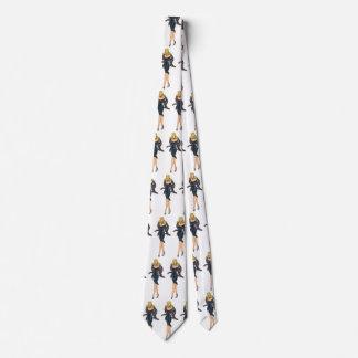 Vintage Gorgeous Glamor Girl Retro Blonde Pinup Tie
