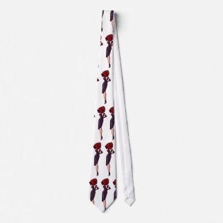 Vintage Gorgeous Glamor Girl Retro Pinup Neck Tie