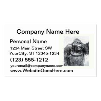Vintage Gorilla primate drawing sketch design Business Card Templates