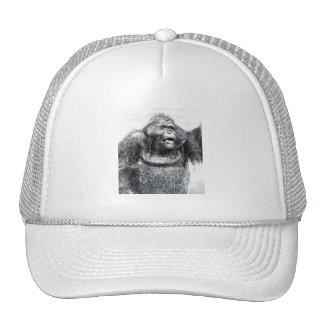 Vintage Gorilla primate drawing sketch design Mesh Hat