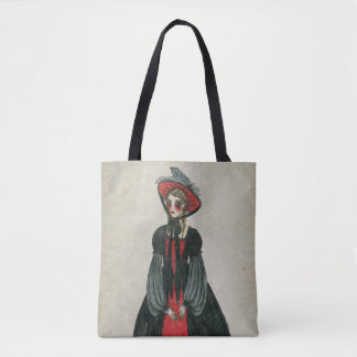 Vintage Goth Victorian Inspired Lady, Fancy Dress Tote Bag
