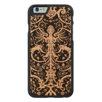 Vintage Gothic Angel and Gargoyles Design Carved Cherry iPhone 6 Slim Case