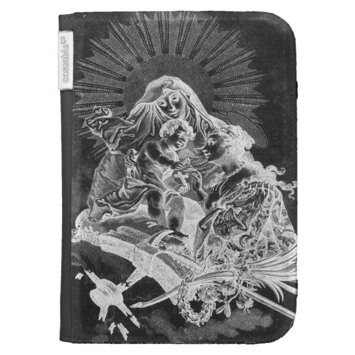 Vintage Gothic Black and White Kindle Case