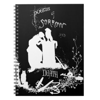 Vintage Gothic cover Spiral Note Book