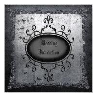 Vintage Gothic Grunge Linen Wedding Invites (<em>$3.15</em>)