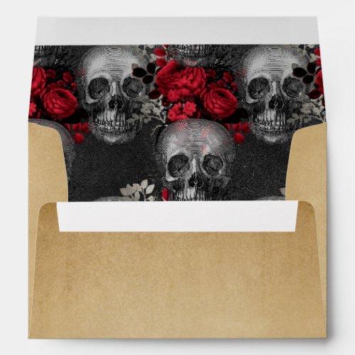 Vintage Gothic Halloween Envelope