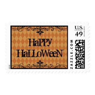 Vintage Gothic Halloween Postage Stamps