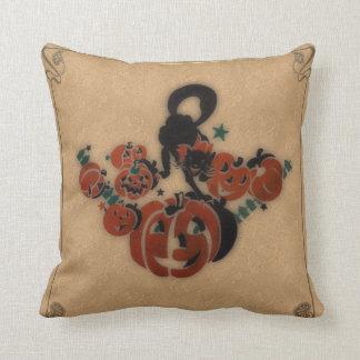 Vintage Gothic Halloween Throw Pillow