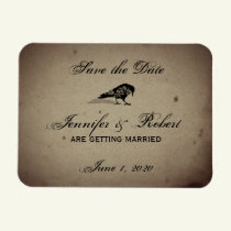 Vintage Gothic House Save the Date Magnet