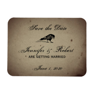 Vintage Gothic House Save the Date Rectangular Photo Magnet