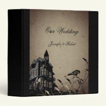 Vintage Gothic House Wedding Binder