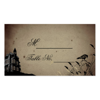 Vintage Gothic House Wedding Place Card Double-Sided Standard Business Cards (Pack Of 100)