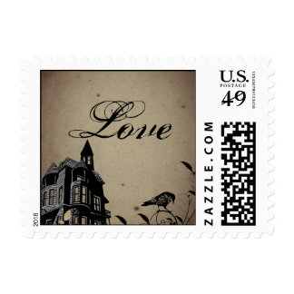 Vintage Gothic House Wedding Postage