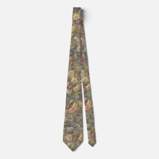 Vintage Gothic Romance Charcoal Yellow Rose Tie