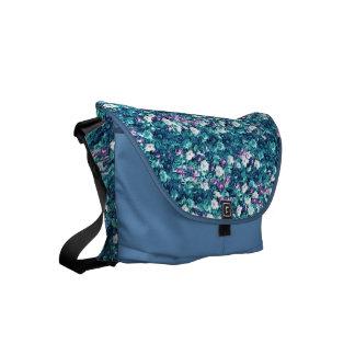 Vintage Gothic Rose Lavender Faded Jade Small Messenger Bag