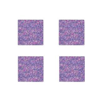 Vintage Gothic Rose Lavender Purple Stone Magnet