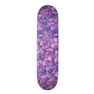 Vintage Gothic Rose Lavender Purple Skate Boards